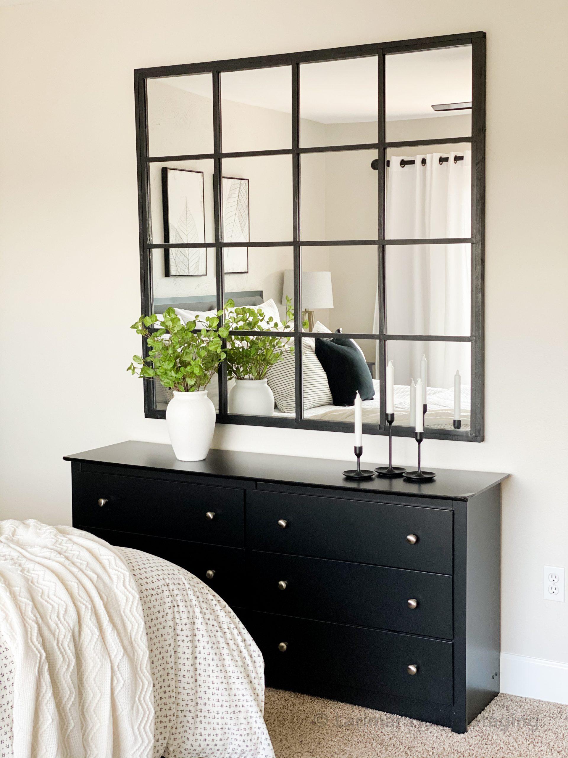 Black Grid Mirror