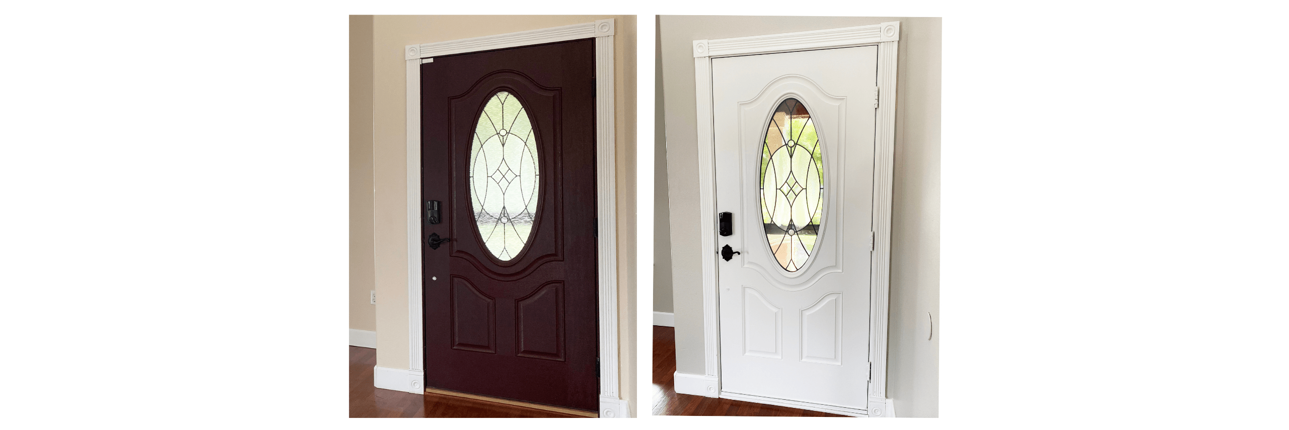 Front Door Interior Before and After Home Staging Consultation