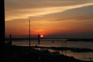 銚子大橋の夕日