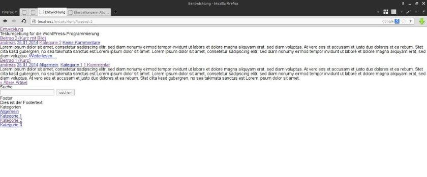 Wordpress pur