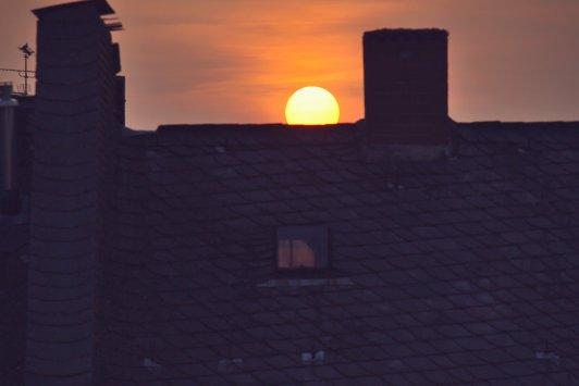 Sonnenuntergang in Wiesbaden