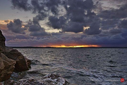 17a Sonnenuntergang am Étang de Biscarrosse et de Parentis