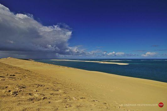 19b Die letzten Regenwolken an der Dune du Pilat ziehen ab