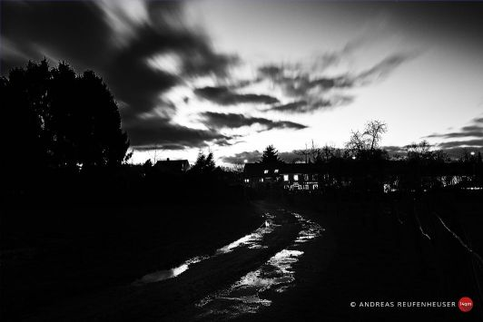 Sonnenuntergang bei Langenfeld