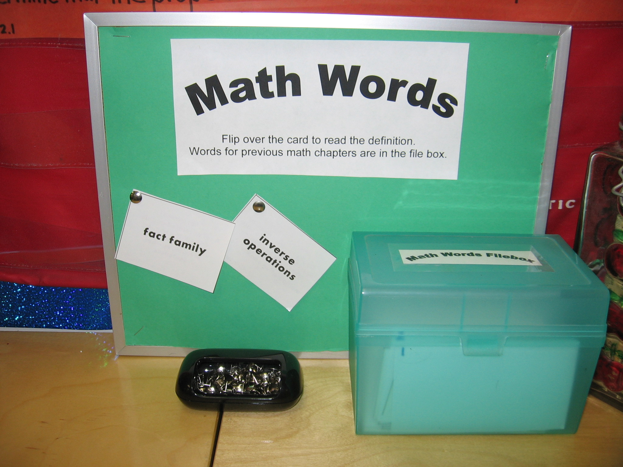 Ideas For Using Math Vocabulary Amp Math Word Walls