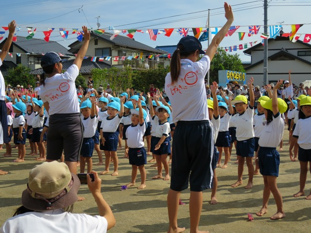 22日、裾花幼稚園の運動会