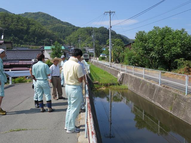 太田沢の浚渫要望。維持課で対応。