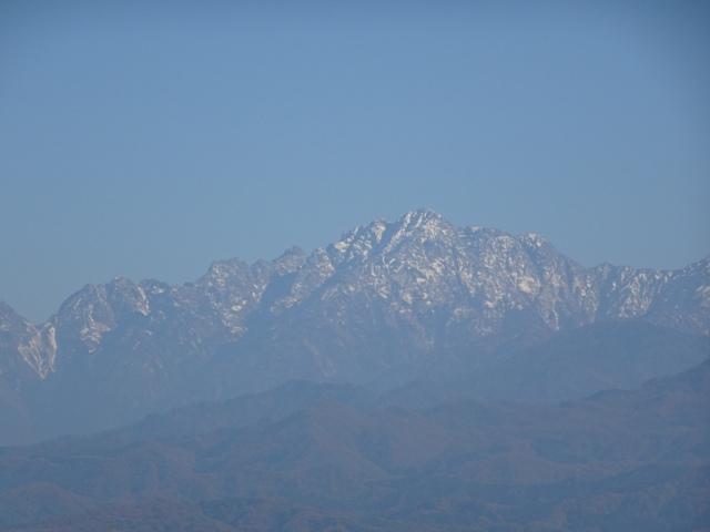 立山連峰、富山に向かう折の1枚
