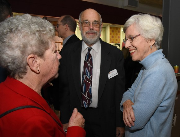 Carol and Peter Carstensen with Judge Barbara Crabb