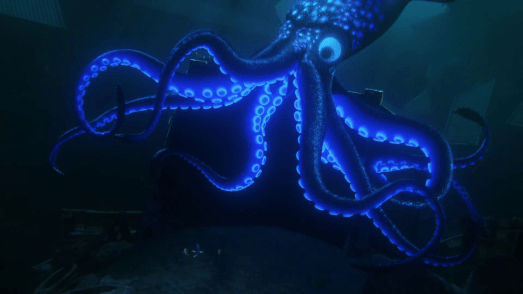 Finding Dory Bio-luminescent giant Octopus