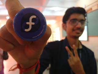 FOSS and Fedora in Bangalore, India: Special Fedora pin