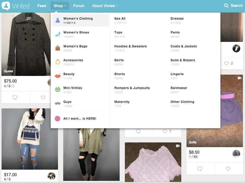 Vinted_shop_items