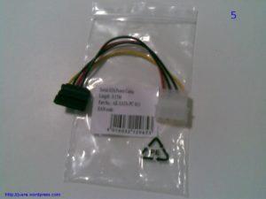 Adaptador alimentación disco IDE a SATA