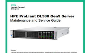 Manual Proliant DL380 G9