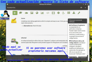 Opciones de Boutique de Software MATE