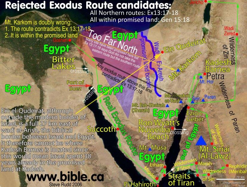 maps-bible-archeology-exodus-route-excluded-candidates-mt-sinai-kadesh-barnea