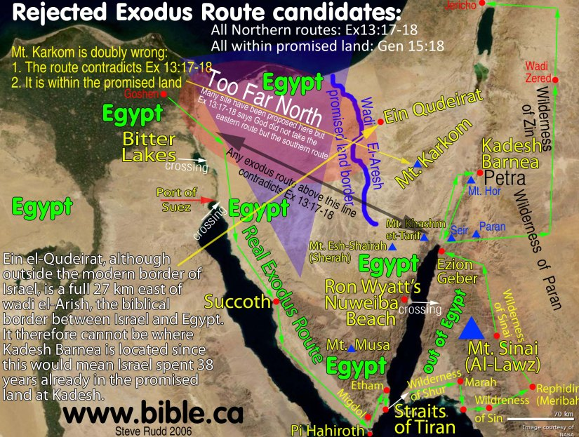 maps-bible-archeology-exodus-route-excluded-candidates-mt-sinai-kadesh-barnea
