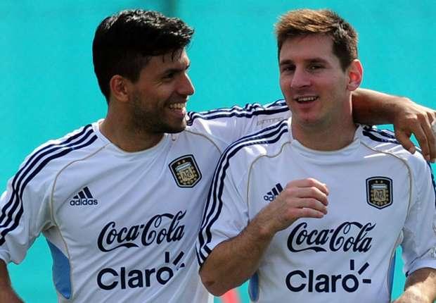 Aguero Berharap Messi Mau Bergabung Di Manchester City