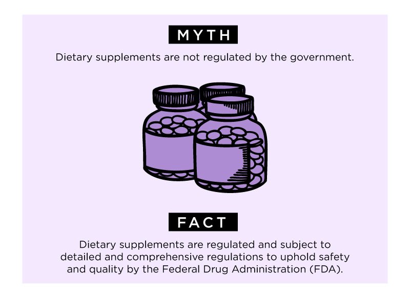 nutritional supplements: Myth 1