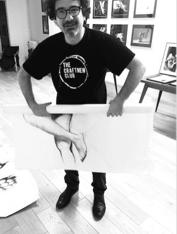 Riccardi Rossati dans son atelier - Paris 2018