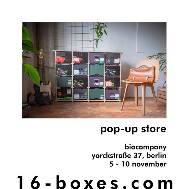 16boxes im Pop-Up Store in der Biocompany