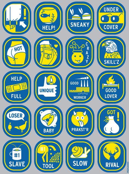 Banana Office Stickers