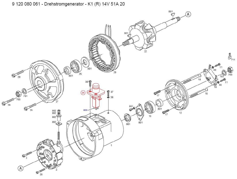 Bosch Al82n Alternator Parts