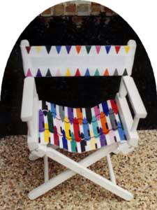 Child's Director Chair Crayons (Seat)