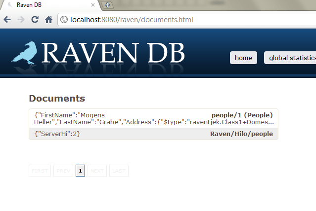 Document in RavenDB