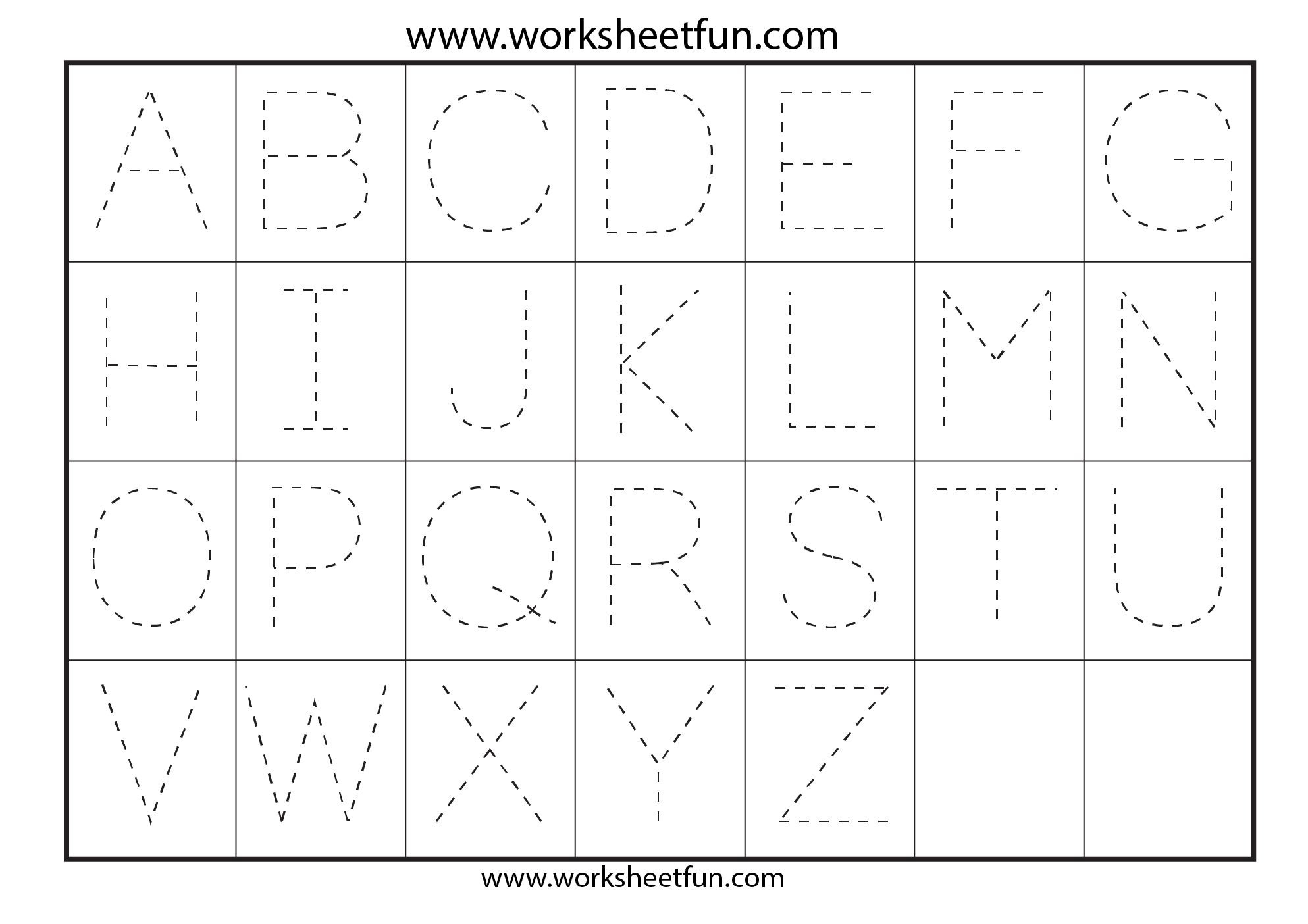 Worksheets Pre K Alphabet Tracing Worksheets alphabets tracing worksheets davezan