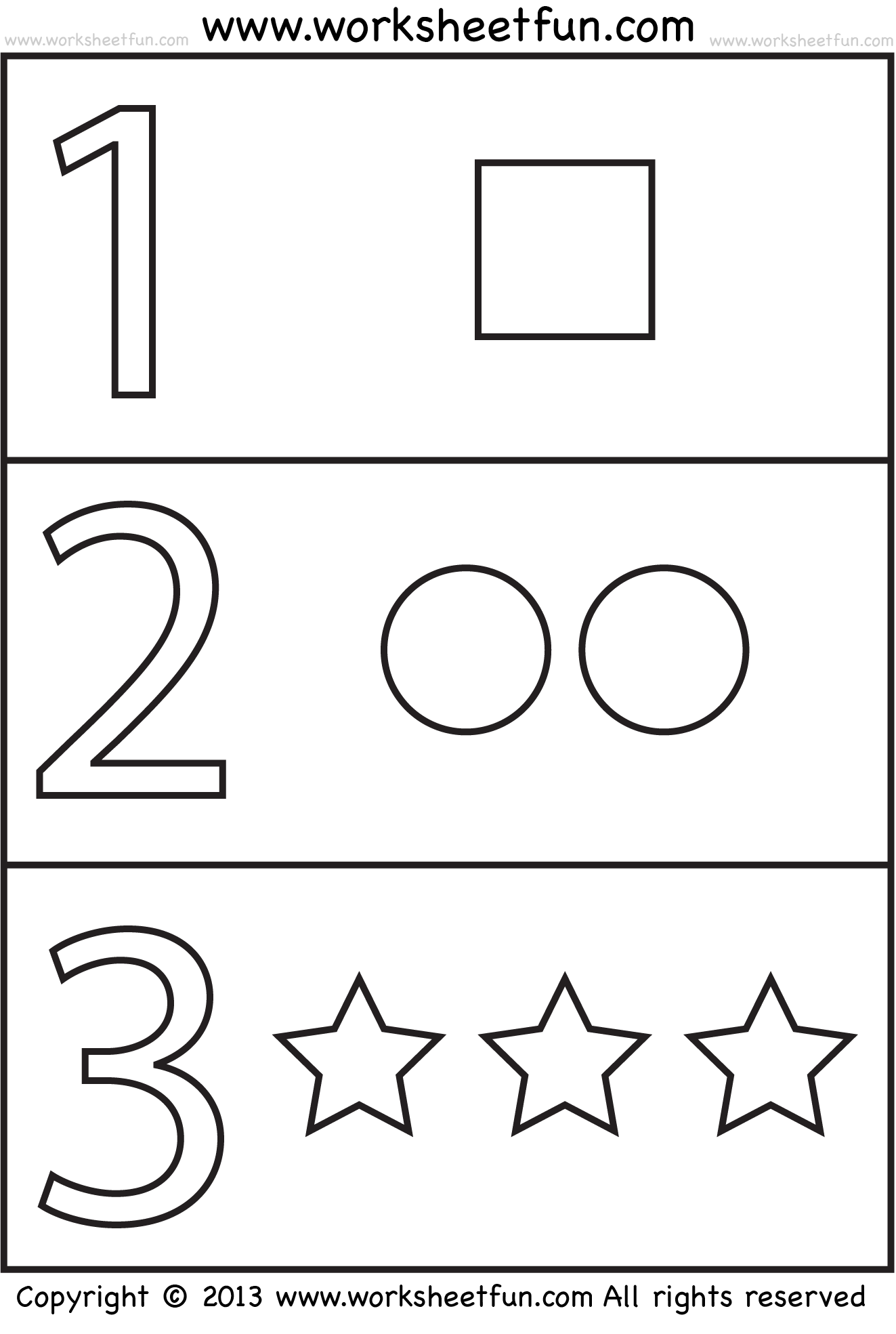 Numbers And Shapes 4 Worksheets Free Printable