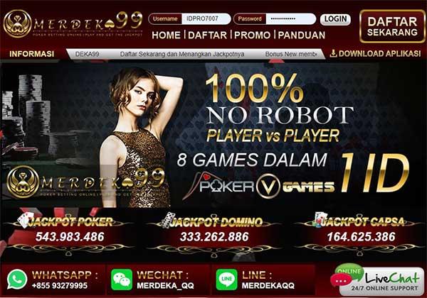Merdeka99 Situs Agen Domino99 Online Terpercaya