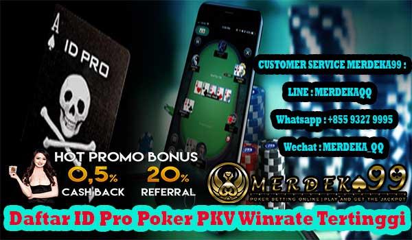 Daftar ID Pro Poker PKV Winrate Tertinggi