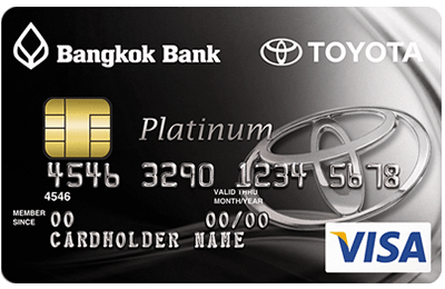BANGKOK BANK VISA PLATINUM TOYOTA CREDIT CARD