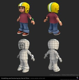 Commander Keen 3D low poly - modèle