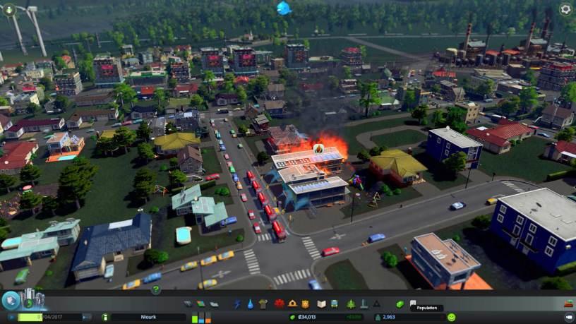 L'école primaire est en feu, prière de ne pas paniquer.