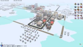 3D City (Micropolis) : la Zone Industrielle Youri Gagarine sous la neige