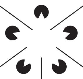 L'illusion fonctionne aussi avec des formes plus complexes.