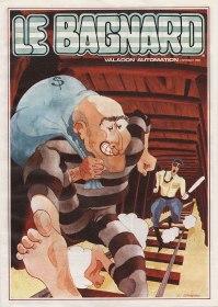Flyer de promotion pour Le Bagnard. Illustration de Jean-Jacques Bravard. Source http://flyers.arcade-museum.com/