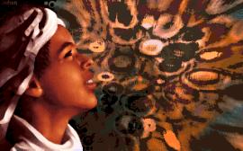 Accord parfait entre une image en pixel art et l'effet 2D en arrière plan. Ace CD Collection #4 Intro par Hyperopia (MS-DOS, 1997) https://demozoo.org/productions/133733/