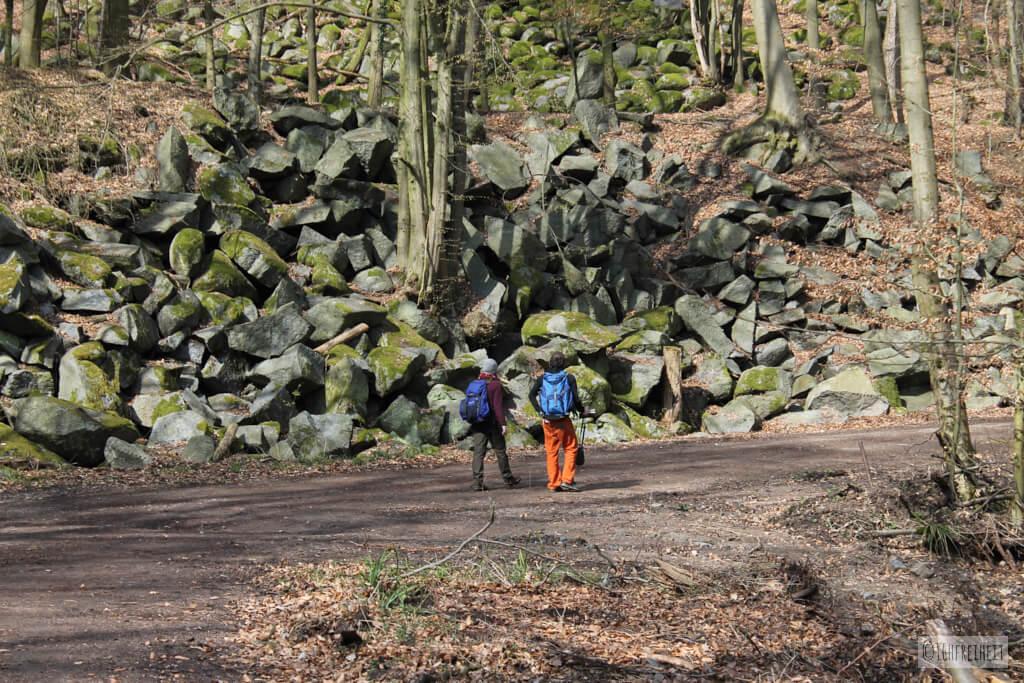 Bouldern (oder so?) am Felsenmeer im Odenwald