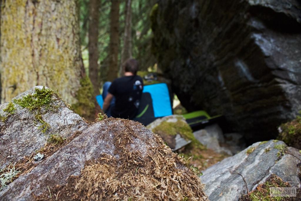 Das Bouldergebiet Mandlers Boden im Pitztal