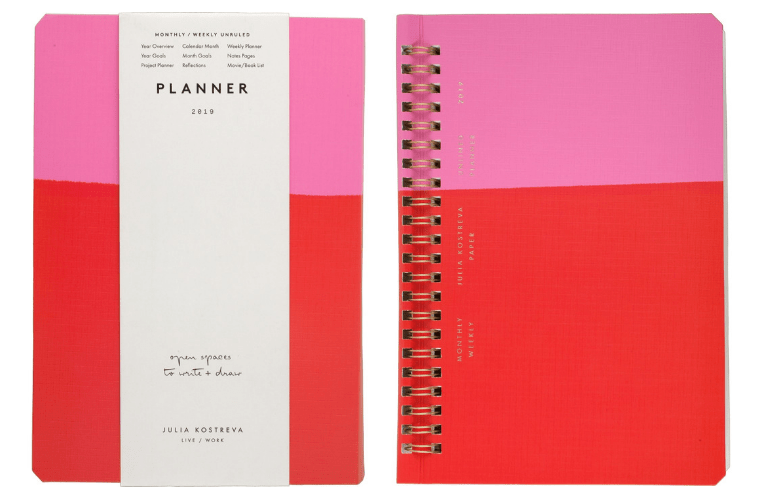 Red and Pink Colorblock Planner from Target