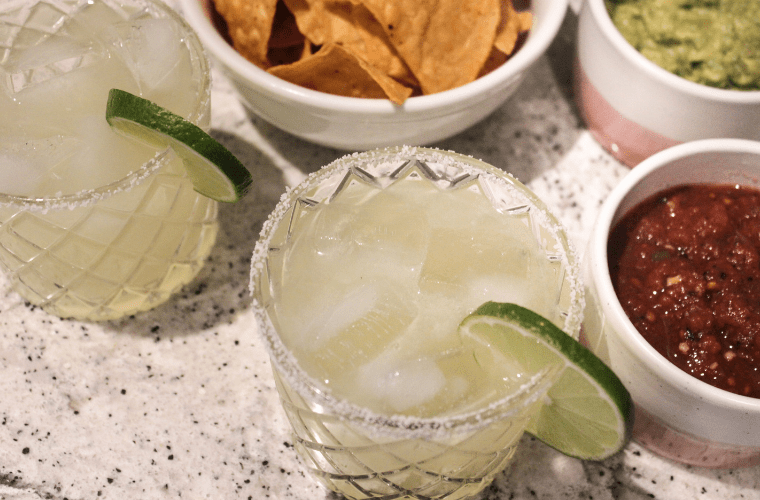 photo of ingredients for a classic margarita