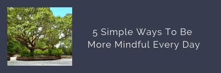 link button to blog post: 5 Simple Ways To Be More Mindful Every Day