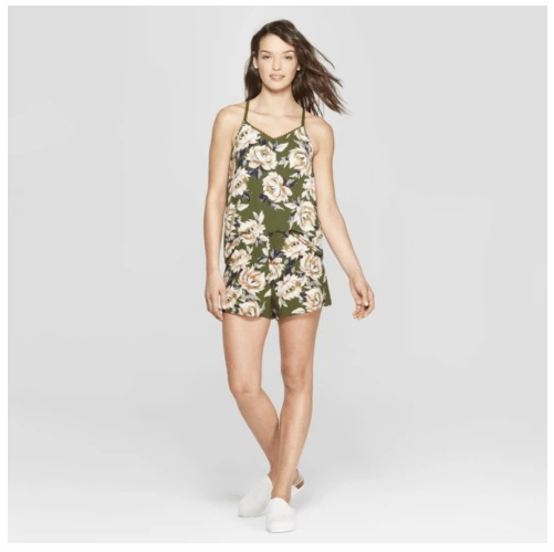 photo of Stars Above green floral pajama set from Target