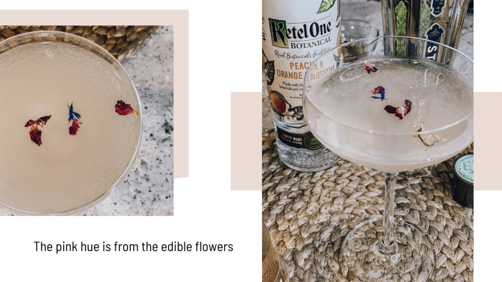 peach honey blossom martini