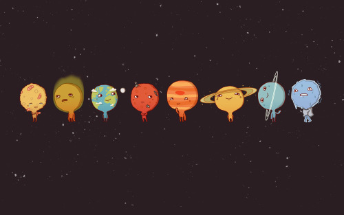 "Anneka Tran: ""Solar System"" Individual planet illustrations here. [via.]"