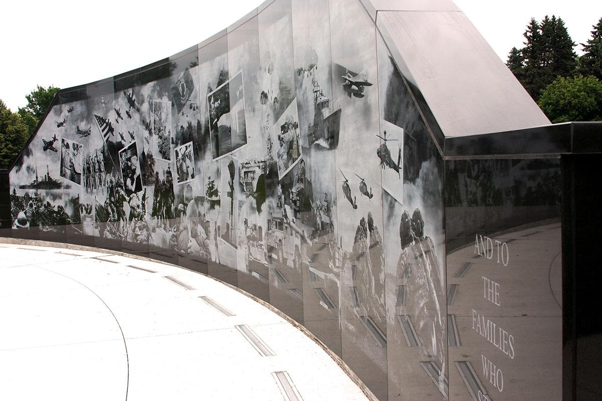 Cloquet Veterans Memorial Wall