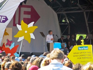 Bill Gates speaking at Big IF rally